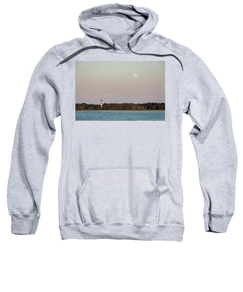 Assateague Light And The Full Moon Sweatshirt