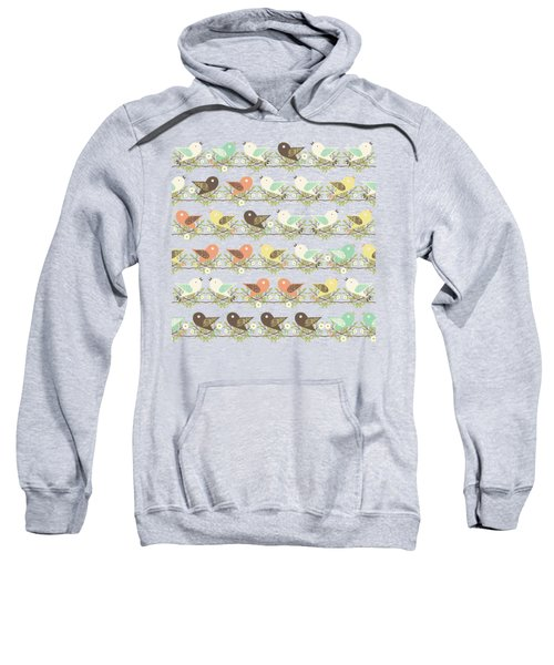 Assorted Birds Pattern Sweatshirt