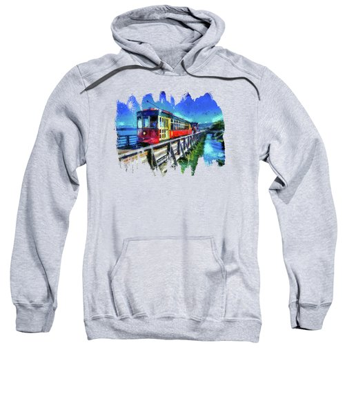 Astoria Riverfront Trolley Sweatshirt by Thom Zehrfeld