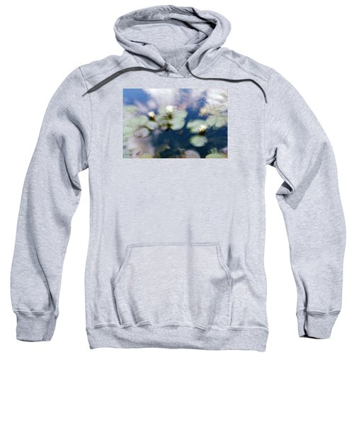 Sweatshirt featuring the photograph At Claude Monet's Water Garden 4 by Dubi Roman