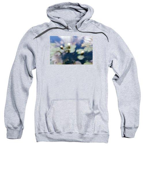 Sweatshirt featuring the photograph At Claude Monet's Water Garden 4 by Dubi Roman