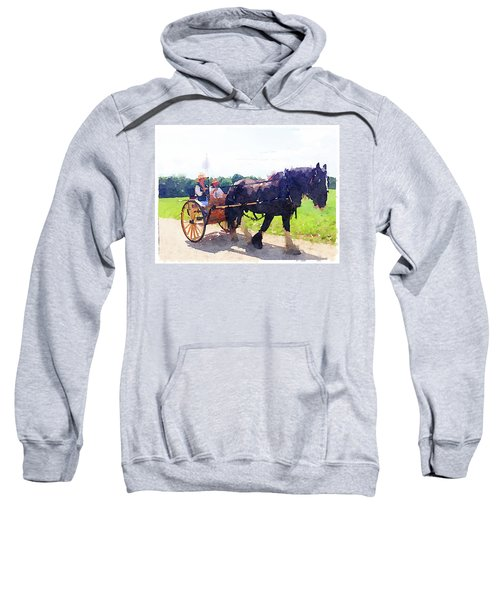 Horse And Buggy At Mount Vernon Sweatshirt