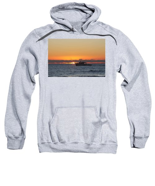 Atlantic Ocean Fishing At Sunrise Sweatshirt