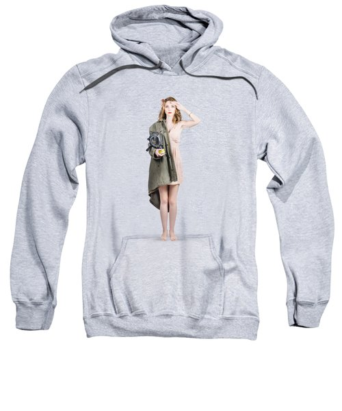 Attractive Young Australian Army Pinup Woman Sweatshirt