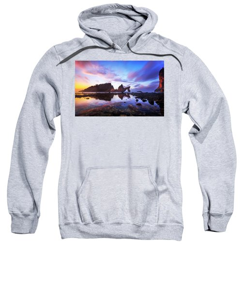Atuh Beach Dawn Break Scene Sweatshirt