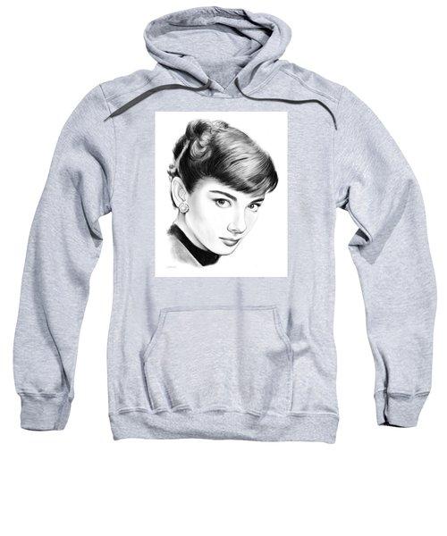 Audrey Hepburn Sweatshirt by Greg Joens