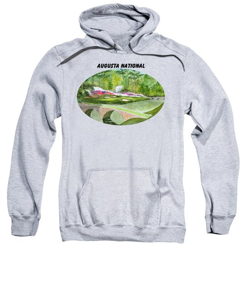 Augusta National Golf Course With Banner Sweatshirt by Bill Holkham