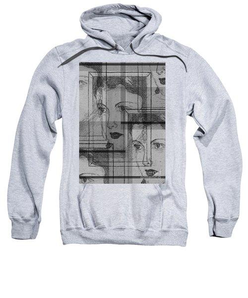 Aunt Edie Black And White Print Sweatshirt