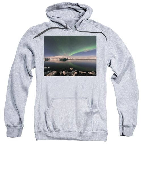 Aurora Borealis And Reflection Sweatshirt