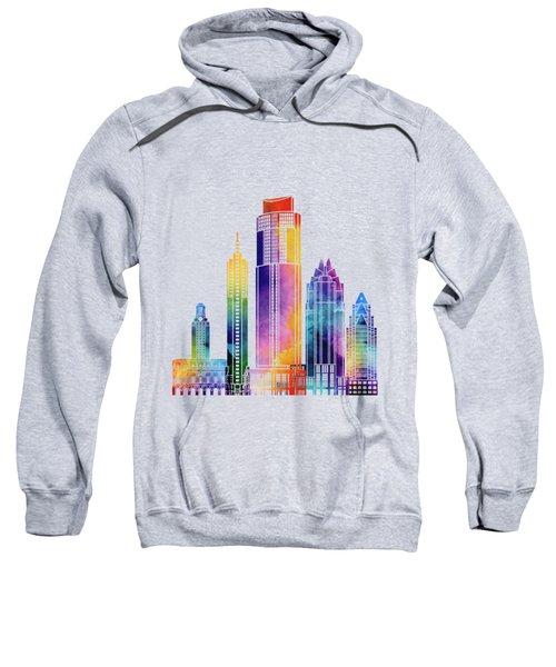Austin Landmarks Watercolor Poster Sweatshirt