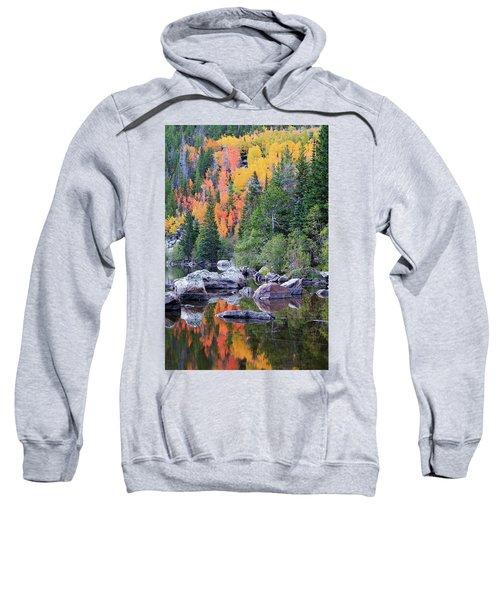 Sweatshirt featuring the photograph Autumn At Bear Lake by David Chandler