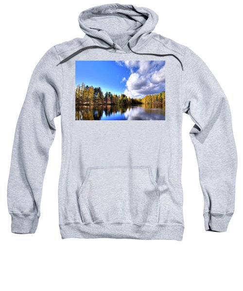 Sweatshirt featuring the photograph Autumn Calm At Woodcraft Camp by David Patterson