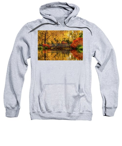 Autumn Color By The Pond Sweatshirt