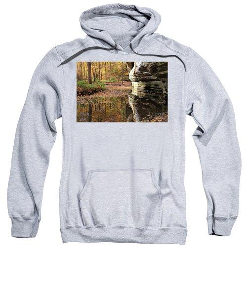 Autumn Comes To Illinois Canyon  Sweatshirt