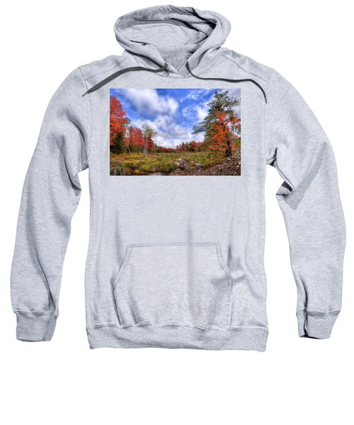 Sweatshirt featuring the photograph Autumn On The Stream by David Patterson