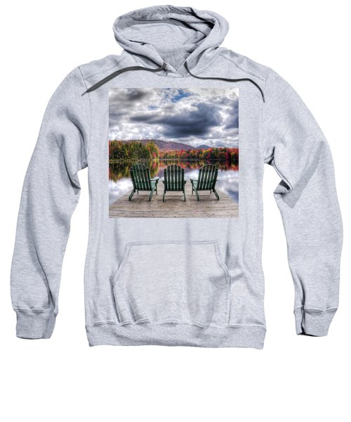 Sweatshirt featuring the photograph Autumn On West Lake by David Patterson
