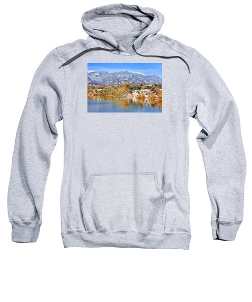 Autumn Snow At The Lake Sweatshirt