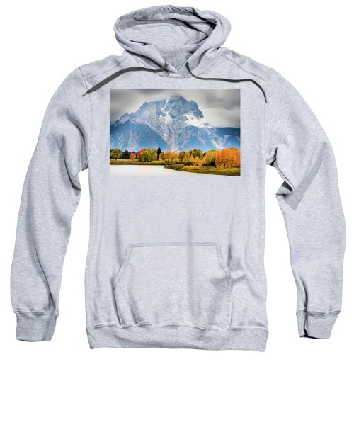 Autumn Storm Over Mount Moran Sweatshirt