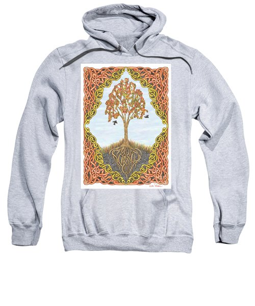Autumn Tree With Knotted Roots And Knotted Border Sweatshirt