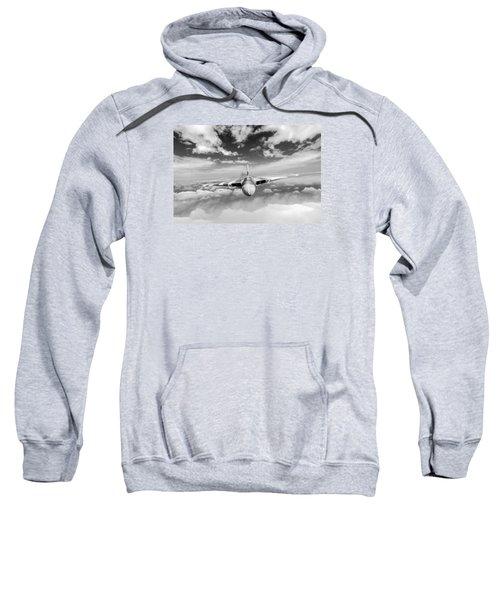 Sweatshirt featuring the digital art Avro Vulcan Head On Above Clouds by Gary Eason