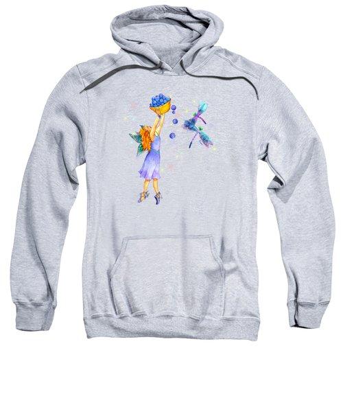 Azuria Blue Twinkle Apparel Design Sweatshirt
