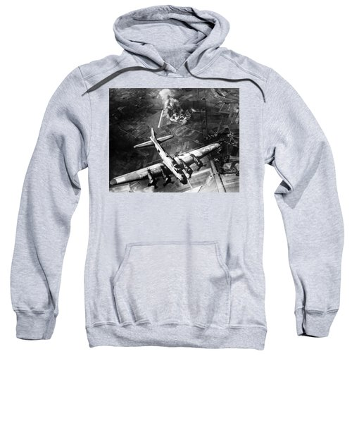 B-17 Bomber Over Germany  Sweatshirt