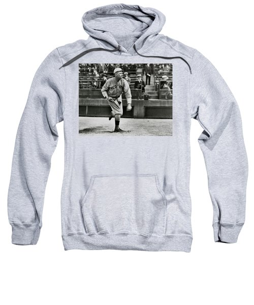 Babe Ruth - Pitcher Boston Red Sox  1915 Sweatshirt by Daniel Hagerman