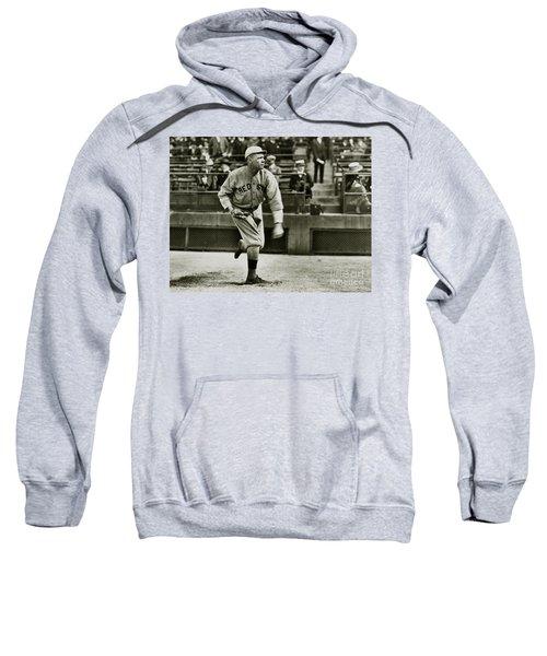 Babe Ruth Pitching Sweatshirt by Jon Neidert