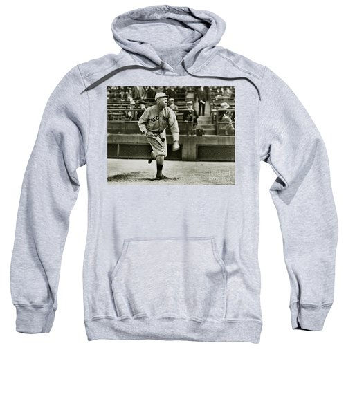 Babe Ruth Pitching Sweatshirt