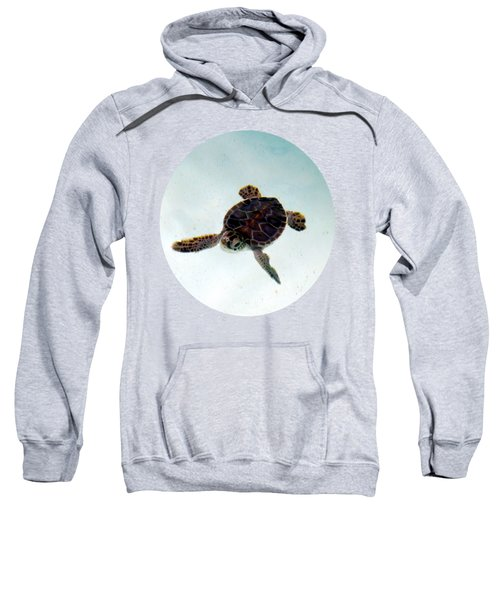 Sweatshirt featuring the photograph Baby Turtle by Francesca Mackenney