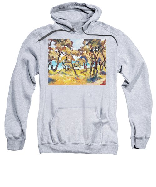 Backlight Olive Trees Marmari Beach Sweatshirt