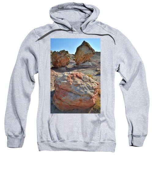 Balanced Boulders In Bentonite Site Sweatshirt