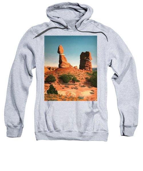 Balanced Rock At Arches National Park Sweatshirt