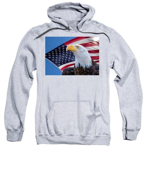 Bald Eagle And American Flag Sweatshirt