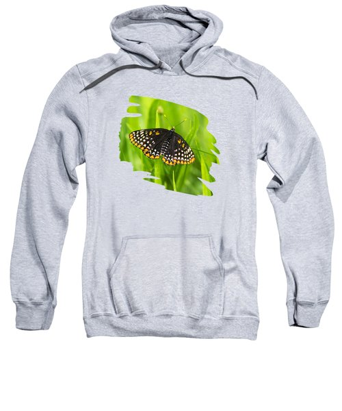 Baltimore Checkerspot Butterfly Sweatshirt by Christina Rollo
