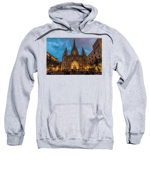 Barcelona Cathedral At Dusk Sweatshirt
