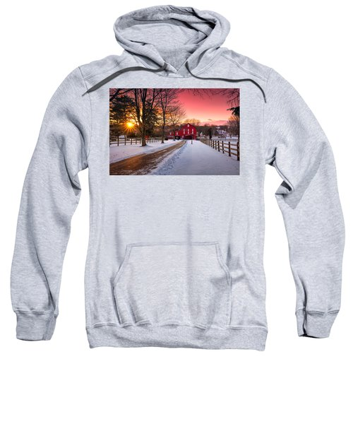 Barn At Sunset  Sweatshirt