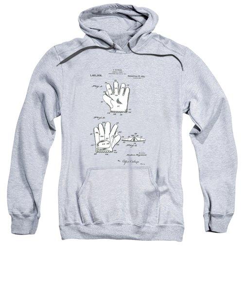 Baseball Glove 1921 Patent Sweatshirt