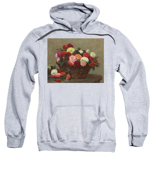 Basket Of Dahlias Sweatshirt