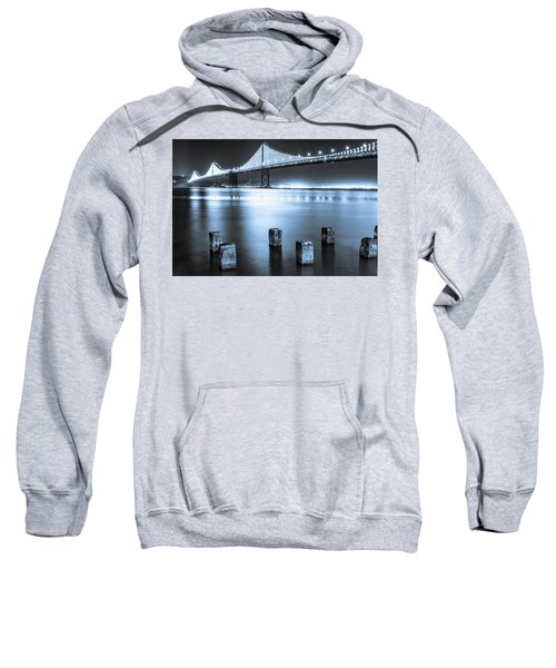 Sweatshirt featuring the photograph Bay Bridge 1 In Blue by Stephen Holst