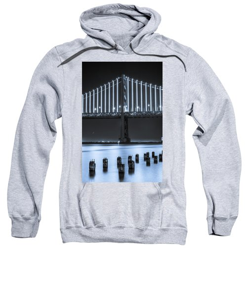 Sweatshirt featuring the photograph Bay Bridge 2 In Blue by Stephen Holst