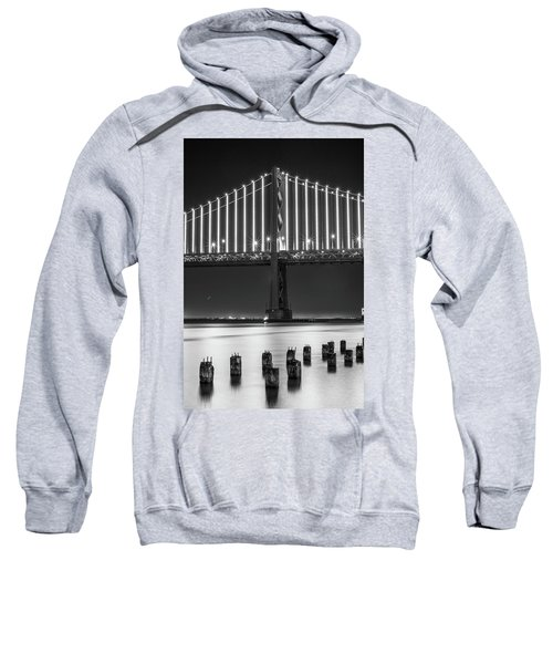 Sweatshirt featuring the photograph Bay Bridge 2 by Stephen Holst