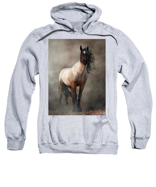 Bay Roan Horse Art Sweatshirt