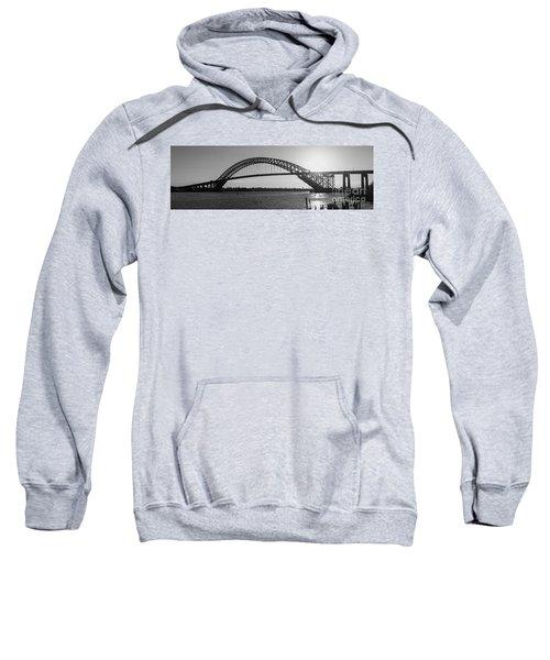 Bayonne Bridge Panorama Bw Sweatshirt