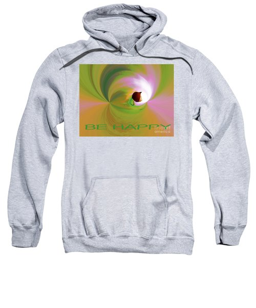 Be Happy, Green-pink With Physalis Sweatshirt