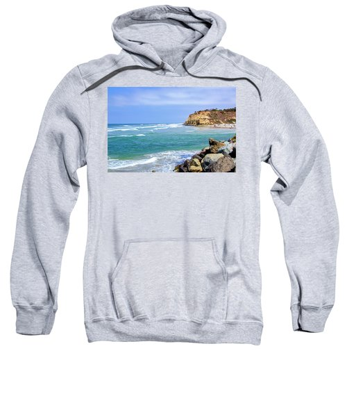 Beach At Del Mar, California Sweatshirt