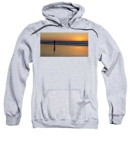 Beach Fishing At Sunset Sweatshirt