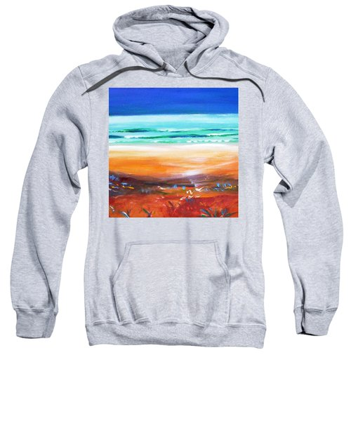 Sweatshirt featuring the painting Beach Joy by Winsome Gunning
