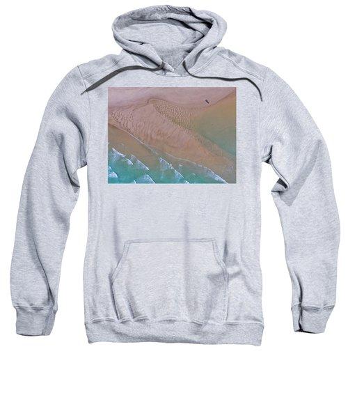 Beach Patterns At North Point On Moreton Island Sweatshirt