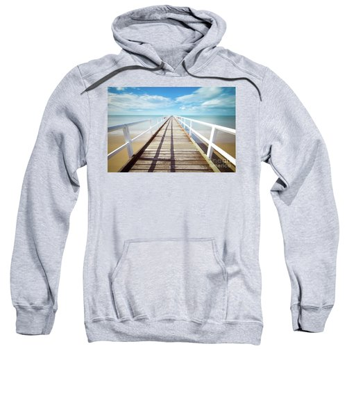 Sweatshirt featuring the photograph Beach Walk by MGL Meiklejohn Graphics Licensing